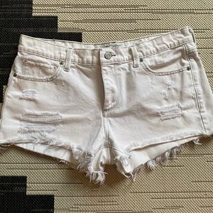 Lucky Brand White The Cut Off Jean Shorts 10